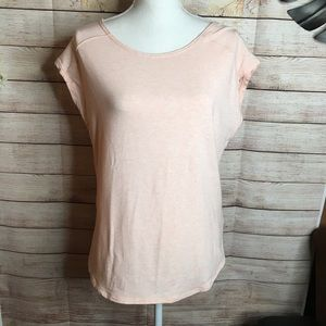 Zella pale pink short sleeves shirt size L